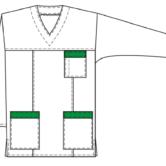 Блуза для медсестер, технический рисунок, вид спереди