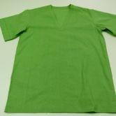 Блуза хирургическая мужская из ситца зеленого цвета, ТУ 858-5785-2005. Вид спереди