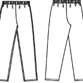Брюки (Комплект женский санитарно-хозяйственной одежды), ТУ 858-5784-2005. Технический рисунок.