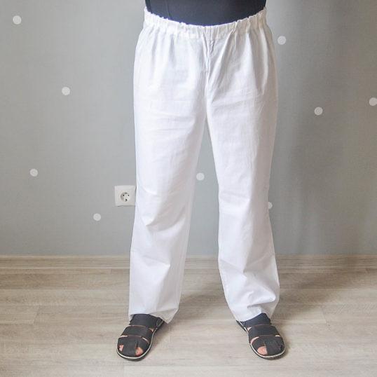 Брюки мужские (Комплект санитарно-хозяйственной одежды), ТУ 858-5783-2005 изв.1. Вид спереди