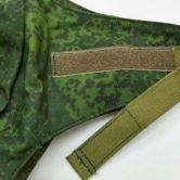 Чехол камуфлированный к шлему общевойсковому 6Б7-1М. Текстильная застежка для фиксации клапана.