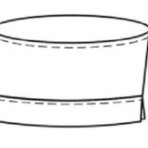 Головной убор для оперирующих бригад ТУ 858-5865-2005, технический рисунок, вид спереди