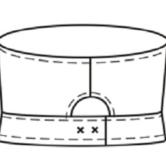 Головной убор для оперирующих бригад ТУ 858-5865-2005, технический рисунок, вид сзади