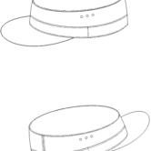 Головной убор (кепи) камуфлированного цвета для сотрудников Следственного комитета РФ. Технический рисунок.