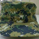 Головной убор (кепи) камуфлированного цвета для сотрудников Следственного комитета РФ. Вид спереди.