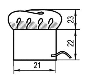 Колпак поварской (Комплект санитарно-хозяйственной одежды), ТУ 858-5783-2005 изв.1. Измерения в готовом виде