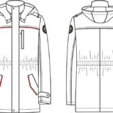 Куртка утепленная мужская для сотрудников Следственного комитета Российской Федерации, ТУ 8557-010-84695467-2013. Технический рисунок